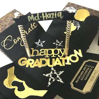 Happy graduation Gold And Blank Handmade Explosion Box card