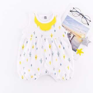 Cactus Print Sleeveless Bodysuit for Baby Girl Baby Boy (0-24Months) CS019Y