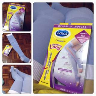 Scholl compression stockings (thigh length) (M size)