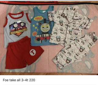 Thomas and friends set boy clothes 3-4t