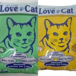 3 pkt x 10L LoveCat Cat litter