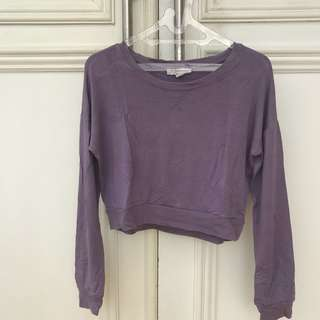 Forever 21 Purple Sweater Cropped