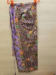 Batik wrap skirt