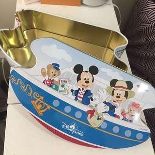 🚚 正版迪士尼米奇遊樂園餅乾鐵盒