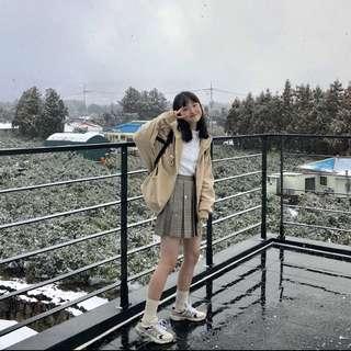 🚚 韓版乖乖學院格子裙子(現貨M)