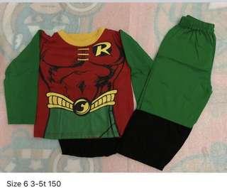 Robin costume size 6 3-5t