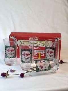 🚚 可口可樂早期紀念可樂杯組