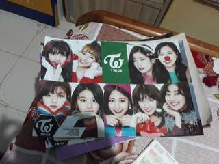 9 Twice posters and 1 signed snsd casio posters
