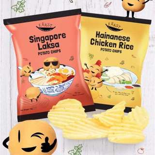 新加坡海最新口味南鸡饭/叻沙薯片