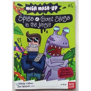 Mega Mash-Up: Spies vs. Giant Slugs - Coloring Book
