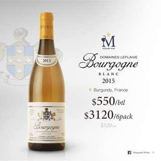Domaine Leflaive  Bourgogne Blanc 2015