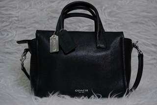 Authentic Coach Leather Handbag In Black