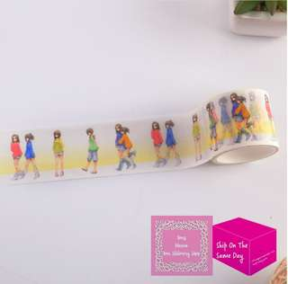 Set of 5m Best Friends Story Wide Washi Tape