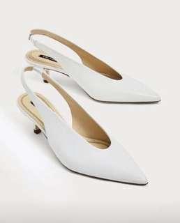 Zara Slingback Leather Shoes