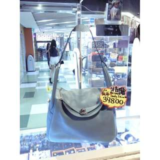 Hermes 3P Atoll Blue Togo Leather Classic Lindy 30cm Shoulder Handbag Hand Bag PHW 愛馬仕 淺藍色 牛皮 皮革 經典款 30公分 銀扣 手挽袋 手袋 肩袋 袋