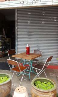 Old Kopitiam Folding Table Set