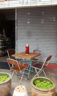 Old Kopitiam Folding Table Set