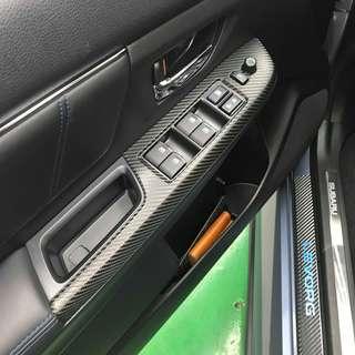 【騰信車體包膜】Subaru Levorg內裝飾板3M1080金屬碳纖維包膜