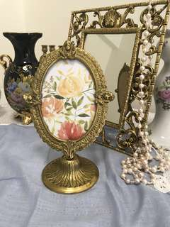 Photo frame Antique Bronze Victorian. 22x14cm