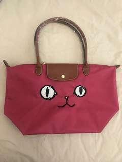 Longchamp Pink kitten tote bag