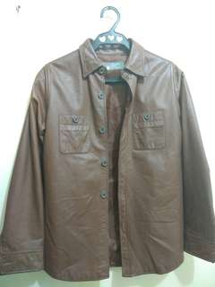Pink Label Leather Jacket