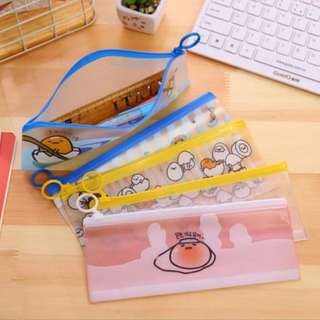 Gudetama B6 Clear Zipped Pouch