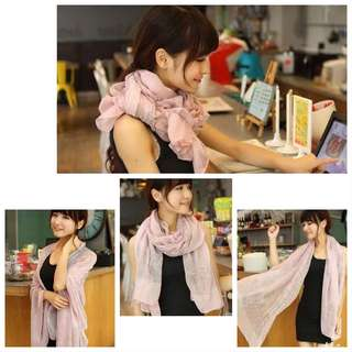 Colorful Summer Scarf / Shawl (light pink)