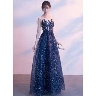 Galaxy Long Gown Evening Dinner Dress
