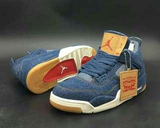 Nike Air Jordan IV 4 X Levi's Denim Blue High premium original