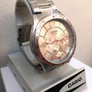[NEW] Casio EDIFICE unisex Watch Silver Stainless Steel Band MTP-1374D-1A