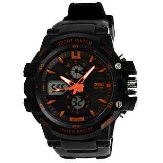 『摩登生活』SKMEI 時刻美 正品 時尚男士矽膠防水多功能運動電子錶 0990