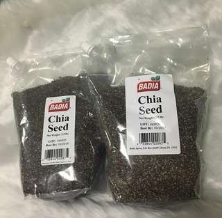 Badia Chia Seeds 2.5lbs or 1.13 kilo