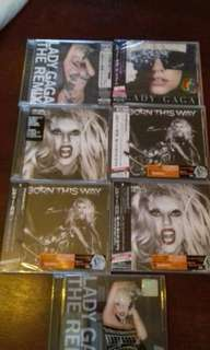 Lady Gaga 8 CD set New Sealed Japan Edition Remix,  Born this Way, The Fame