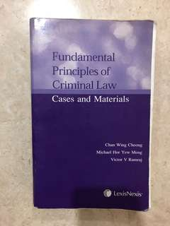 Fundamental Principles of criminal law: Chan Wing Cheong, Michael Hor
