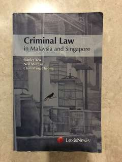 Criminal Law in Malaysia and Singapore: Stanley Yeo