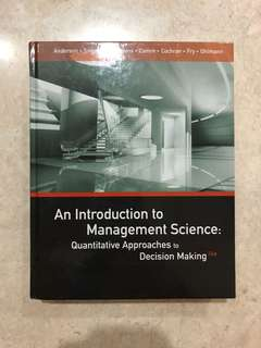 An introduction to management science.