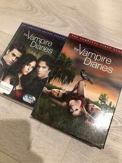 Vampire Diaries Complete Seasons 1 & 2 DVDs