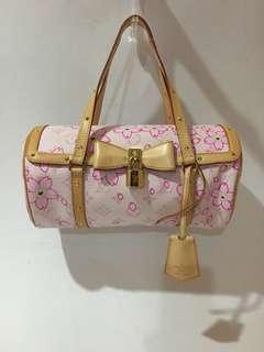 Authentic Louis Vuitton LV Pink Cherry Blossom Papillon Bag Limited Ed