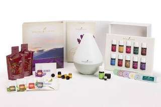 Young Living Premium Starter Kit with Dewdrop Essential Oil Diffuser