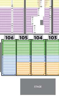 >>PHYSICAL TICKETS<< CELINE DION 03Jul Cat A Reserve *Section 106* FRONT FACING tickets