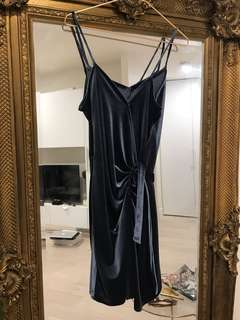 Custom Made Velvet Wrap Dress