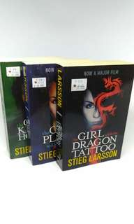 (TRILOGY) The Girl With The Dragon Tattoo-Stieg Larsson - 3 Novel import