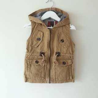 Baby Boys hooded vest jacket size 1