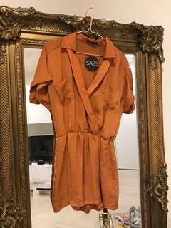 Sass Orange Jumpsuit