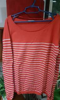 Striped Red Pullover Sweater