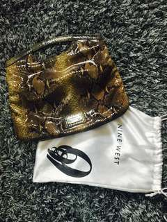 NINE WEST AUTHENTIC SNAKE SKIN HAND/CLUTCH BAG MINT CONDITION