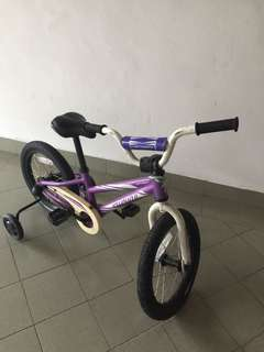 Specialized kid bike with training wheels in great condition