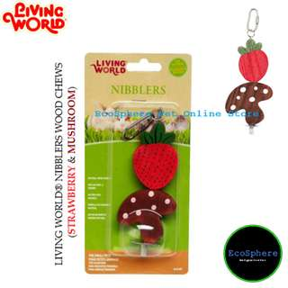 LIVING WORLD® Nibblers Wood Chews (Strawberry & Mushroom)