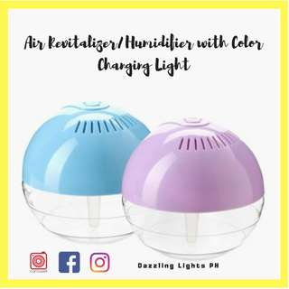 Air Revitalizer and Humidifier with color changing light