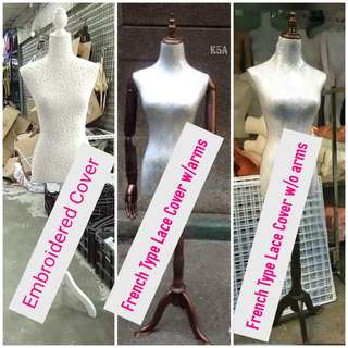 Mannequin Lace and Embroidered Cover